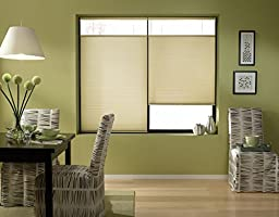 Custom Top Down Bottom Up Cordless Cell Shades, 41W x 36H, Ivory Beige