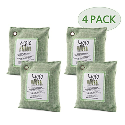 Moso Natural 200gm Air Purifying Bag, Green, 4-Pack (Clean N Green Rv Toilet compare prices)