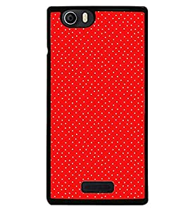 Fuson Premium Red n White Metal Printed with Hard Plastic Back Case Cover for Micromax Canvas Nitro 2 E311