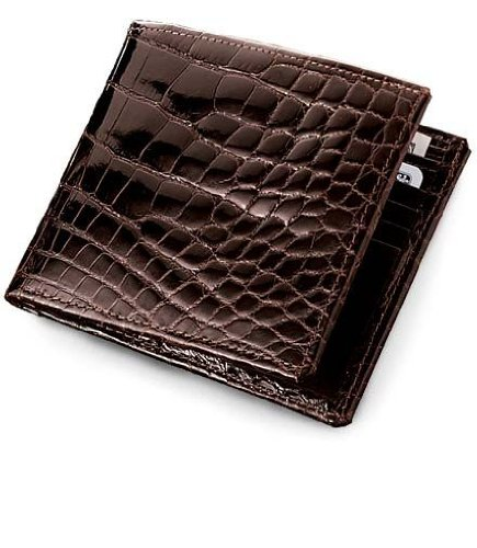 Signature Gold Genuine Alligator Bi-Fold Wallet