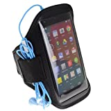 SumacLife Workout Armband Case Pouch For Motorola MOTO X Phone / MOTO G (Black)