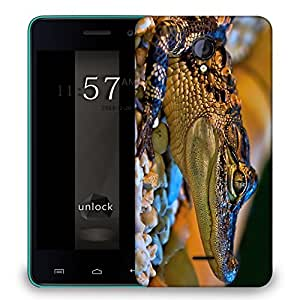 Snoogg Baby Aligator Designer Protective Back Case Cover For MICROMAX UNITE 2