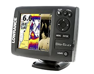 Lowrance 000-11171-001 Elite-5 HDI Combo with Navionics Gold U.S. Charts and 83... by Lowrance
