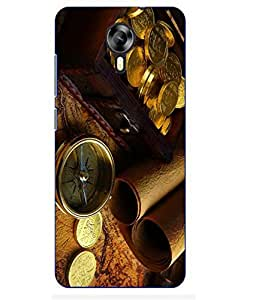 Snazzy Vintage Printed Yellow Hard Back Cover For MEIZU M2
