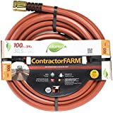 Element ELCF34100 Contractor/Farm Lead Free, Kink Resistant 3/4-Inch-by-100-Foot Garden Hose, Brick