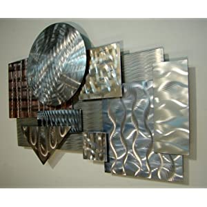 """Color Me Kind"" Original Abstract Metal Wall Art Modern Contemporary Sculpture"