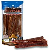 Loving Pets Pure Buffalo 6-Inch Backstrap Tendon Dog Treat, 20-Pack
