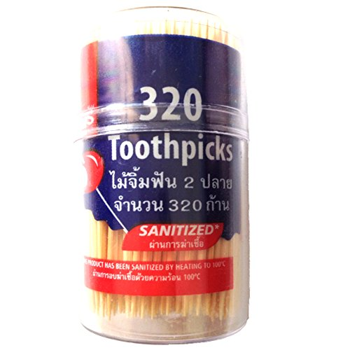 Bamboo Toothpicks Pack of 320 Pcs., Sanitized By Heating to 100 Celsius