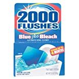 2000 Flushes Automatic Toilet Bowl Cleaner, Blue Plus Bleach, 2 ct.