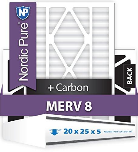 Nordic Pure 20x25x5ABM8+C-1 Merv 8 Plus Carbon Air Bear Replacement
