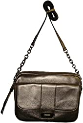 B Makowsky Women's Genuine Leather Harlow II Tech Chase Handbag, Clay