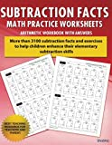 img - for Subtraction Facts Math Practice Worksheet Arithmetic Workbook With Answers: Daily Practice guide for elementary students and other kids (Elementary Subtraction Series) (Volume 1) book / textbook / text book