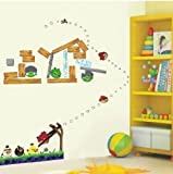 Angry Birds Reusable 3rd Generation Removable Art Decal Wall Stickers V1 from Wall Stickers Warehouse