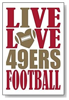 Live Love I Heart 49ers Football lined journal - any occasion gift idea for San Francisco 49ers fans from WriteDrawDesign.com