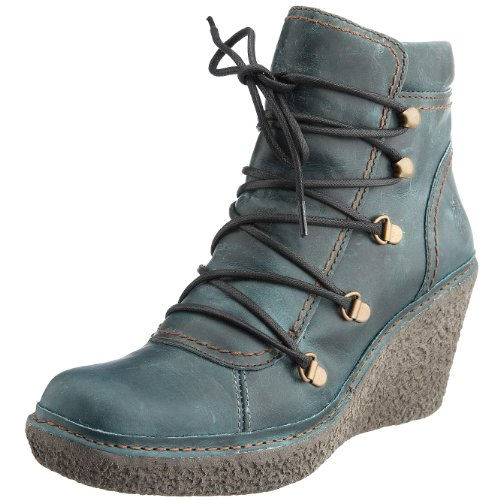 Fly London Women's Ving Lace Up Boot Leather Petrol P801028009 6 UK