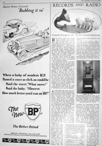 old-original-antique-victorian-print-1930-bp-radio-transmitting-studio-christie-manson-woods-london-