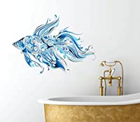 "Fancy Fish Design - Beautiful Ocean Inspired - Bathroom Wall Decal - 24"" x 14"" by AK Wall Art Company"