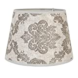 Zauberhafte Lampenschirm *Grau mit Muster * von Clayre & Eef