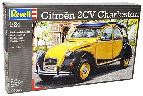 Citroen 2cv 2 Cv Charleston Gelb Schwarz 07095 7095 Bausatz Kit 1/24 Revell Modellauto Modell Auto