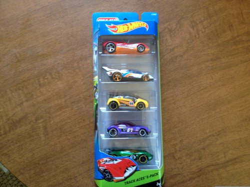 Hot Wheels Target Exclusive Track Aces 5 Car Pack - 1