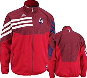 NBA adidas Los Angeles Clippers GreeRedn On-Court West Full Zip Jacket by adidas
