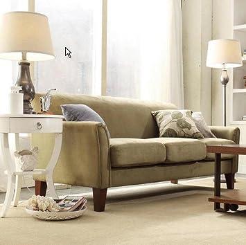 Tribecca Home Uptown Sage Microfiber Suede Modern Sofa Loveseat