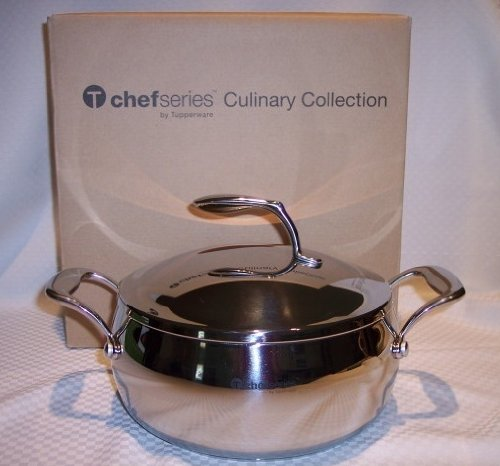 Tupperware Chef Series 4 Qt Stockpot Pan Stainless NEW (Tupperware Pots And Pans compare prices)