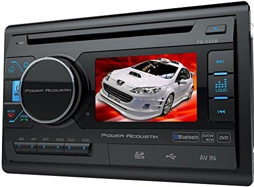 "Power Acoustik PD-342B Car DVD Player - 3.4"" LED-LCD - Doubl"