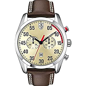 Scuderia Ferrari Watches Men's D50 Multi Chronograph With Parchment Dial