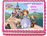 Personalised Disney Princess Sofia The First Edible Birthday Icing Cake Topper A4 Full (8
