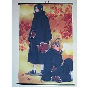 Home Decor Japanese Anime Naruto Itachi Deidara Fiber Fabyic Wall Scroll Painting 005 (DIY Supported)
