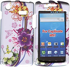 Amazon.com: Purple Flower Samsung Captivate i897 Galaxy S Android at&t