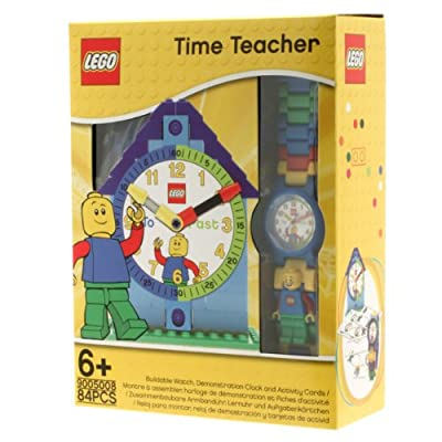 LEGO Blue Time Teacher Quartz Watch and Constructible Clock 9005008