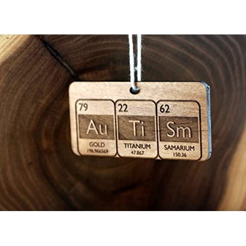Autism Periodic Table Christmas Ornament