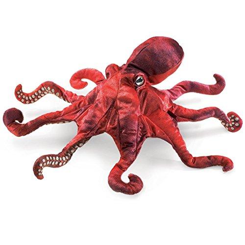 フォークマニス Folkmanis レッドオクトパス 赤い蛸 ハンドパペット ぬいぐるみ (並行輸入品)