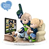 NFL-Licensed Seattle Seahawks Fan Precious Moments Porcelain Figurine - By The Hamilton Collection by The Hamilton Collection