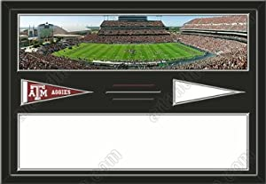 Texas A&M Aggies Kyle Stadium & Your Choice Of Stadium Panoramic Framed-House... by Art and More, Davenport, IA