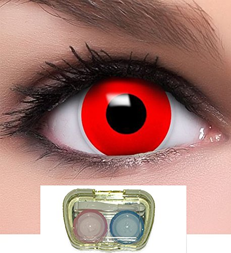 Posch Red Soaking Case Recommended for Use with Coloured Contact Lenses
