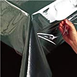Square Crystal Clear Vinyl Tablecloth Protector, 54