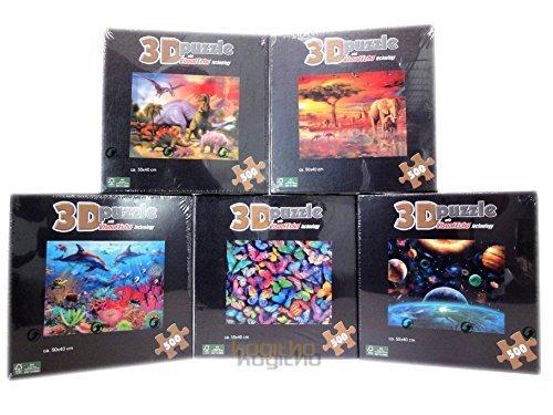 3D-Puzzle-500-teilig-ca-50x40-cm-mit-visual-Echo-technology-4-verschiedene-Motive-UniversumDelphineAfrikaDinosaurier-1-Puzzle-pro-Bestellung-Bitte-Wunschmotiv-per-Nachricht