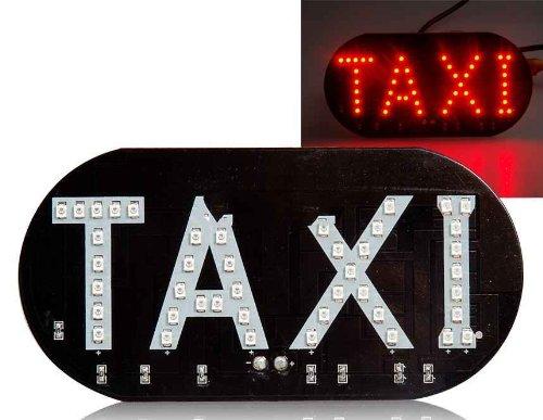 Led Taxi Sign Lamp (Black)