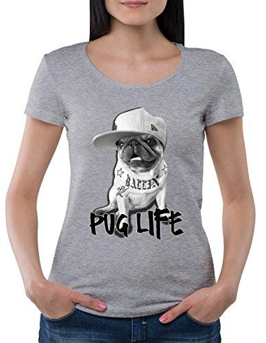 pug-life-gangsta-stuff-ballen-la-city-2pac-style-tattoos-dangerous-animal-womens-classic-t-shirt-by-