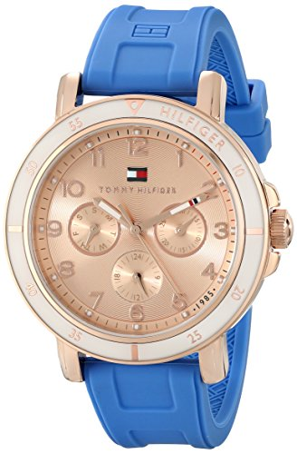 tommy-hilfiger-womens-1781512-gold-tone-sport-watch-with-blue-silicone-band