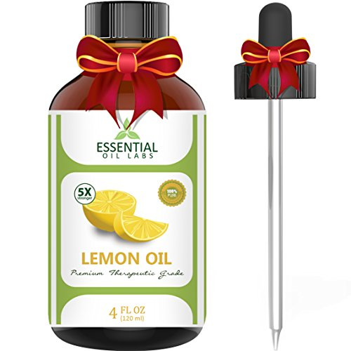 Essential Oil Labs Therapeutic Grade Lemon Oil with Dropper, 4 Ounce (Essential Oils Sale compare prices)