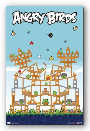 Angry Birds Pig Fort Video Game Poster Print - 22x34