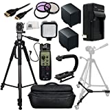 Professional Accessory Package For Canon XA20, XA25 HD Professional HD Camcorders Includes 3 Piece Filter Kit (UV-CPL-FLD) + 2 Extended Life Replacement Batteries (BP-828) + AC/DC Rapid Home & Travel Charger + Mini HDMI Cable + 8 Function LANC Remote Control + 72