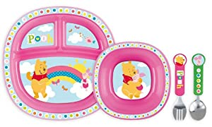 Munchkin 051408 - Juego de alimentación infantil para niñas, diseño de Winnie the Pooh