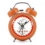 Modern Fashion Lovely Colorful Metal Alarm Clock Orange 941