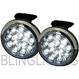 "3"" Inch Round White 4300K LED Fog Lamps Driving Lights Kit Set Universal 6W 76MM"