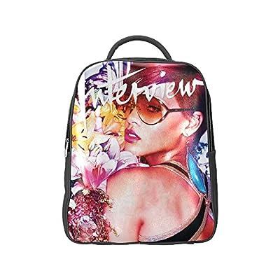 DOROT Famous Female Singer Rihanna Logo Unisex School High-grade PU Leather Backpack Bag Shoulder Bag